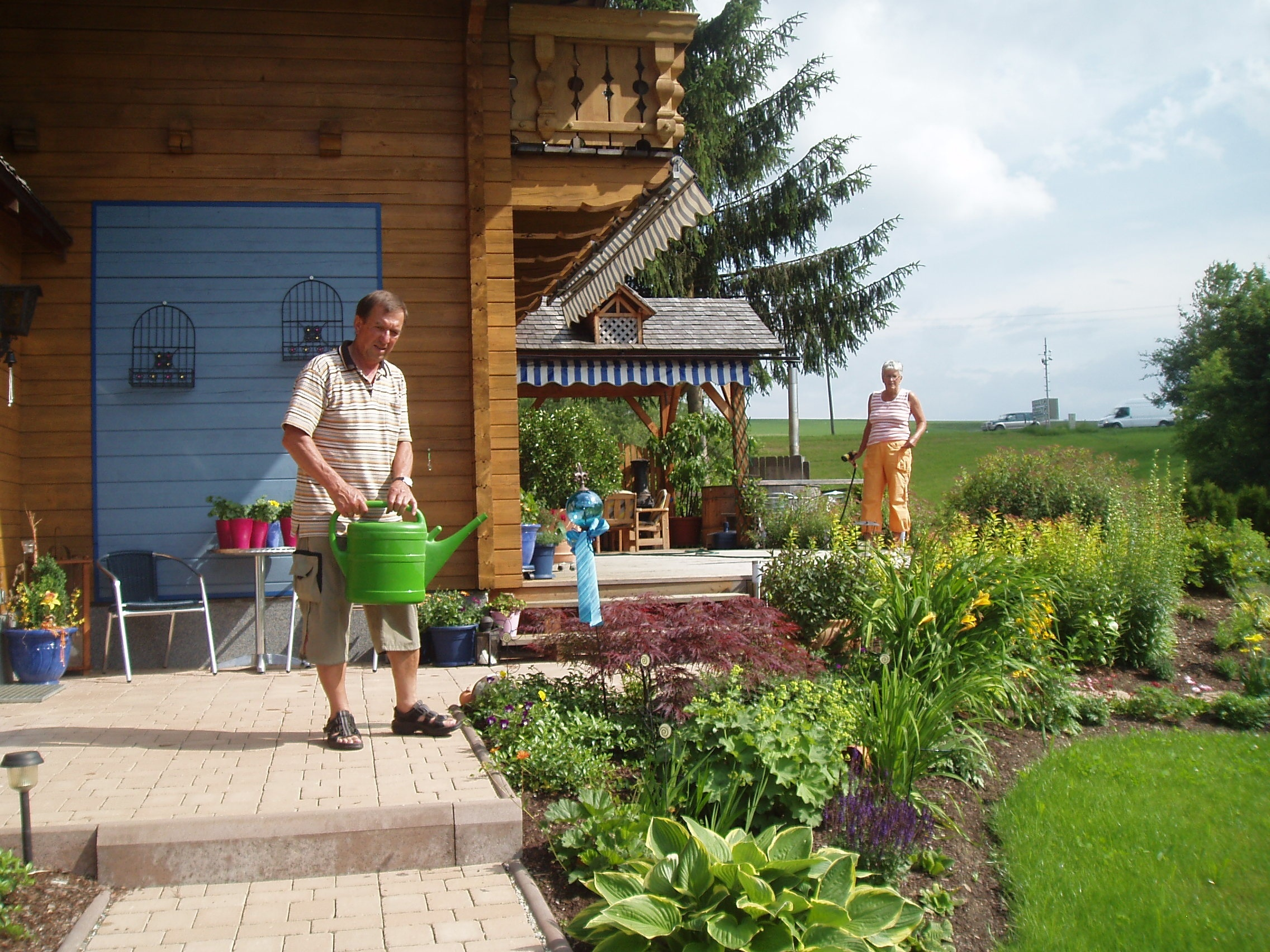 Urlaubszeit - Vertretung im Garten!