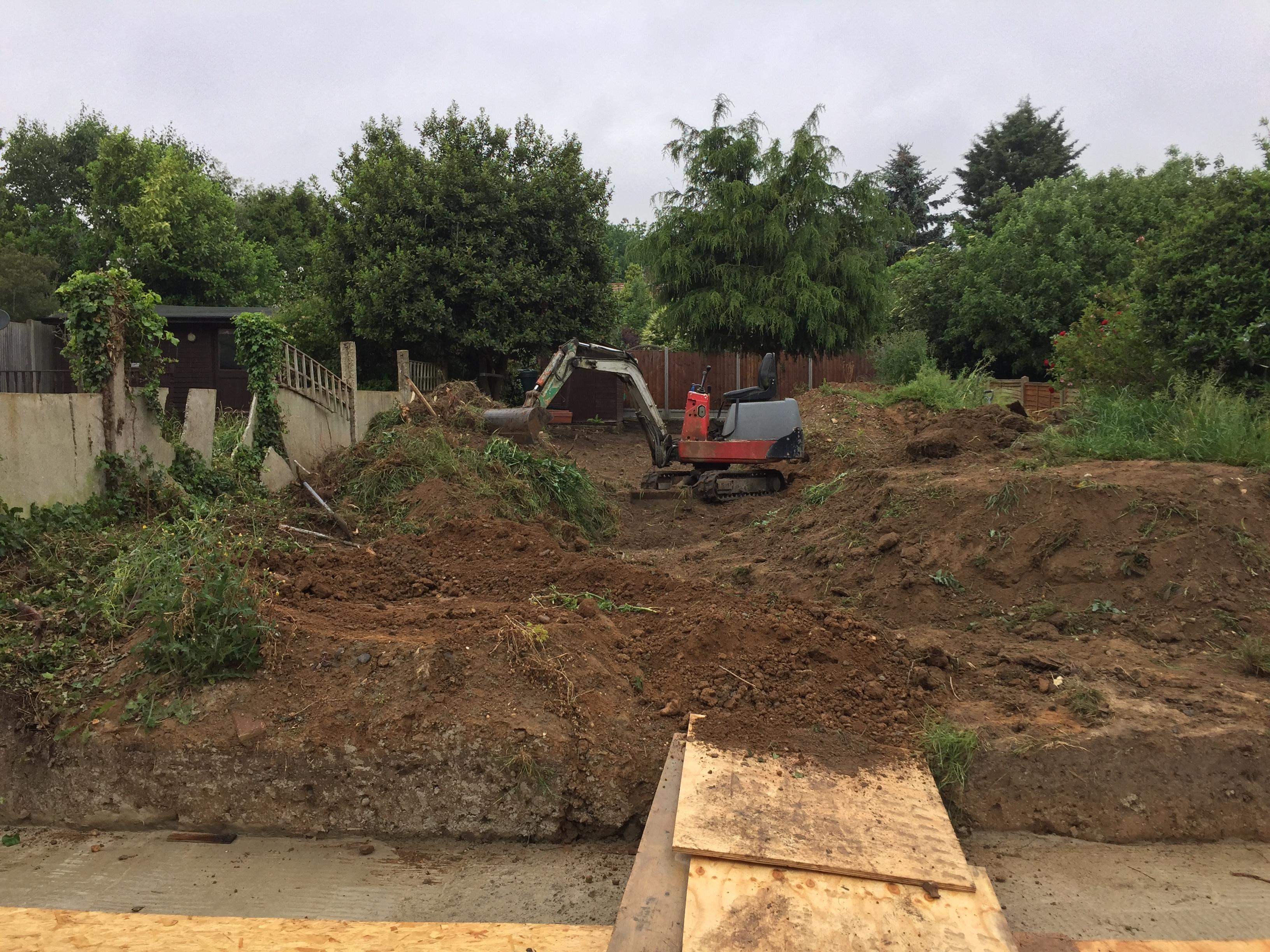 Before Levelling Garden Bexley.