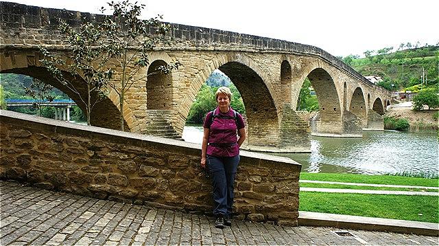 Puente la Reina - Brücke der Königin - erbaut in der ersten Hälfte des 11. Jahrhunderts