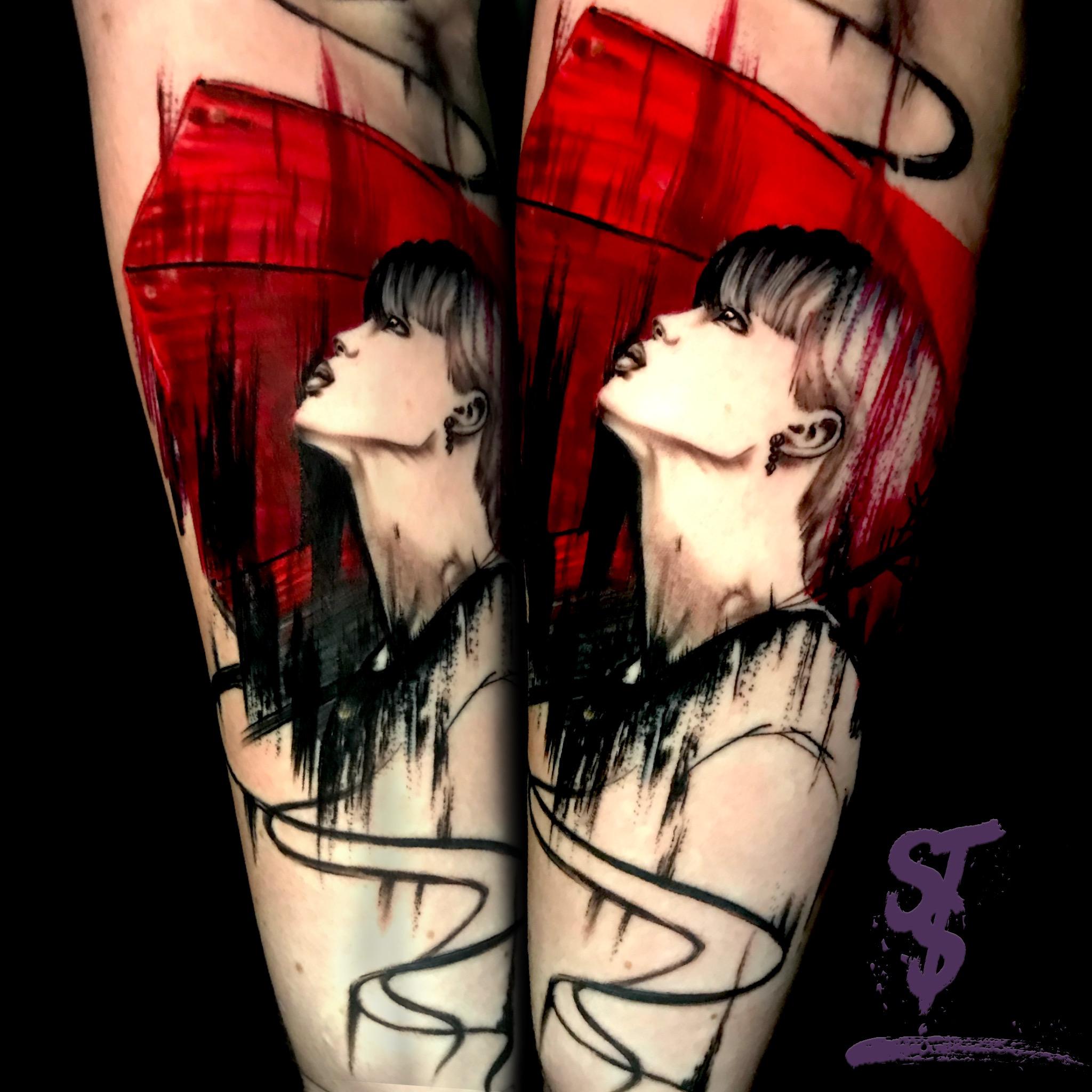 Frau Portait modern Tattoo Woman