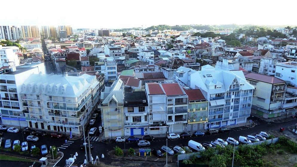 Blick vom Oberdeck auf die Stadt