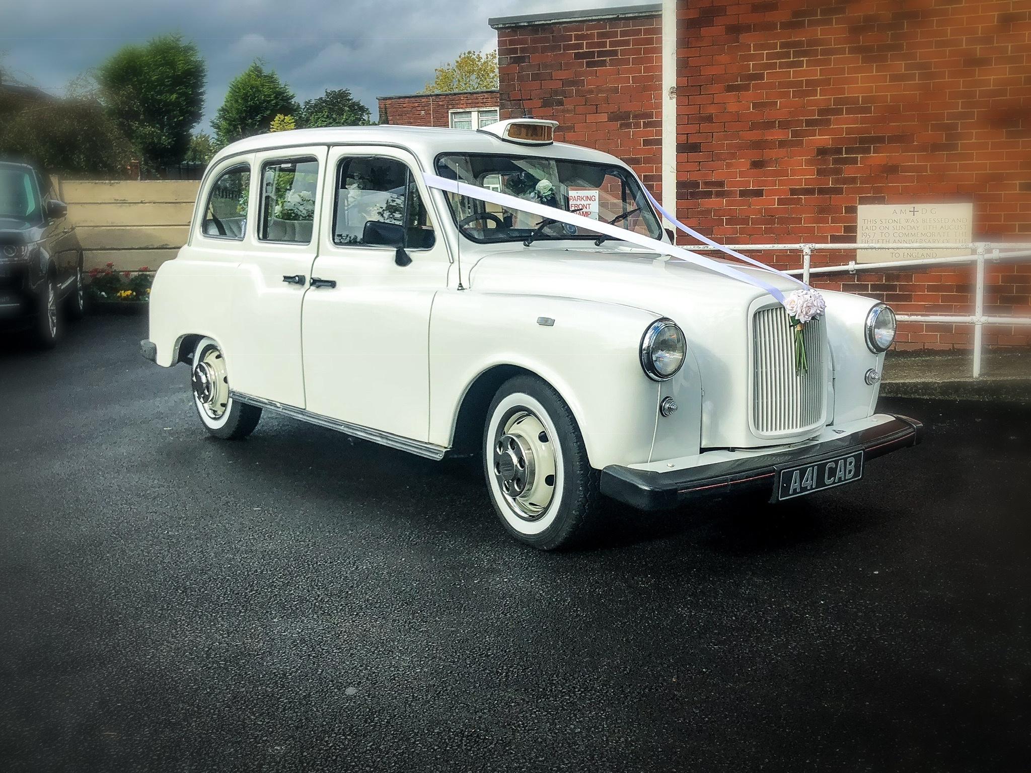 wedding prop taxi white prop taxi wedding car prop hire