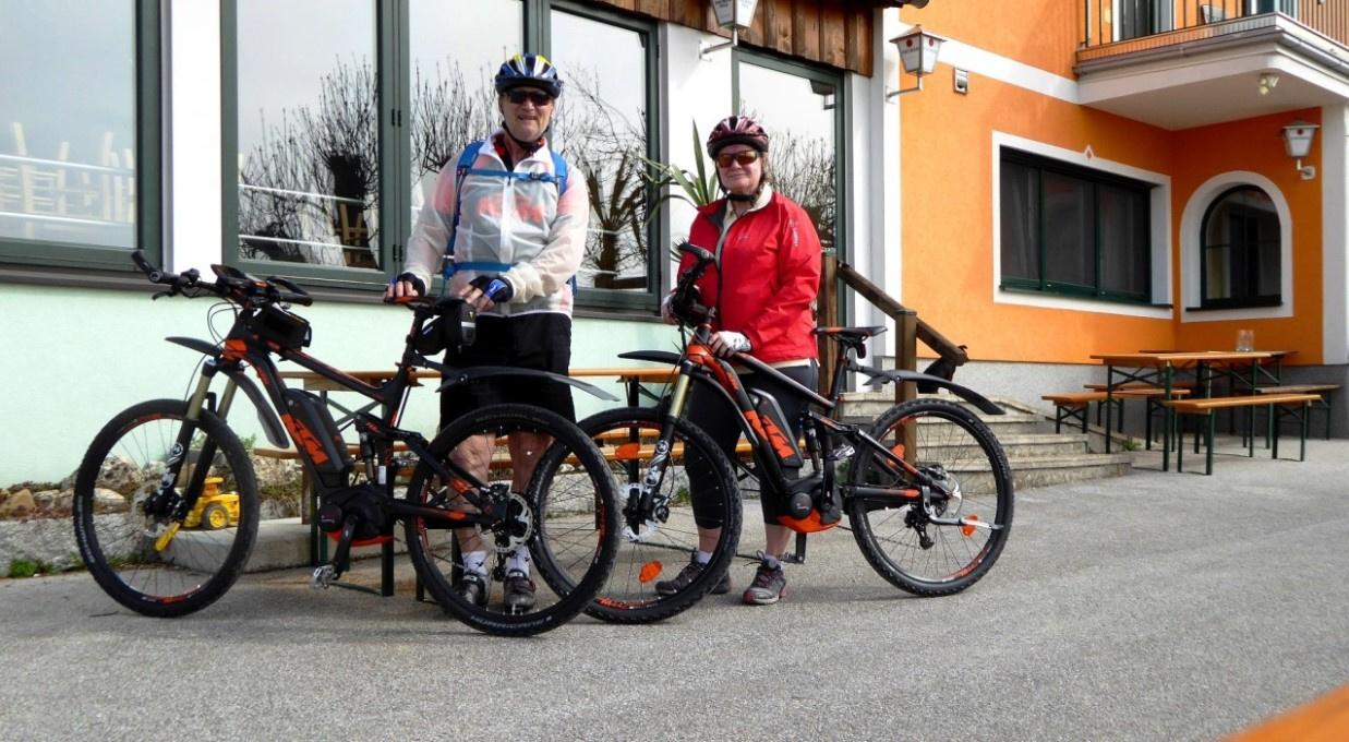 Heute sind wir mit unseren KTM Macina e-Bikes unterwegs