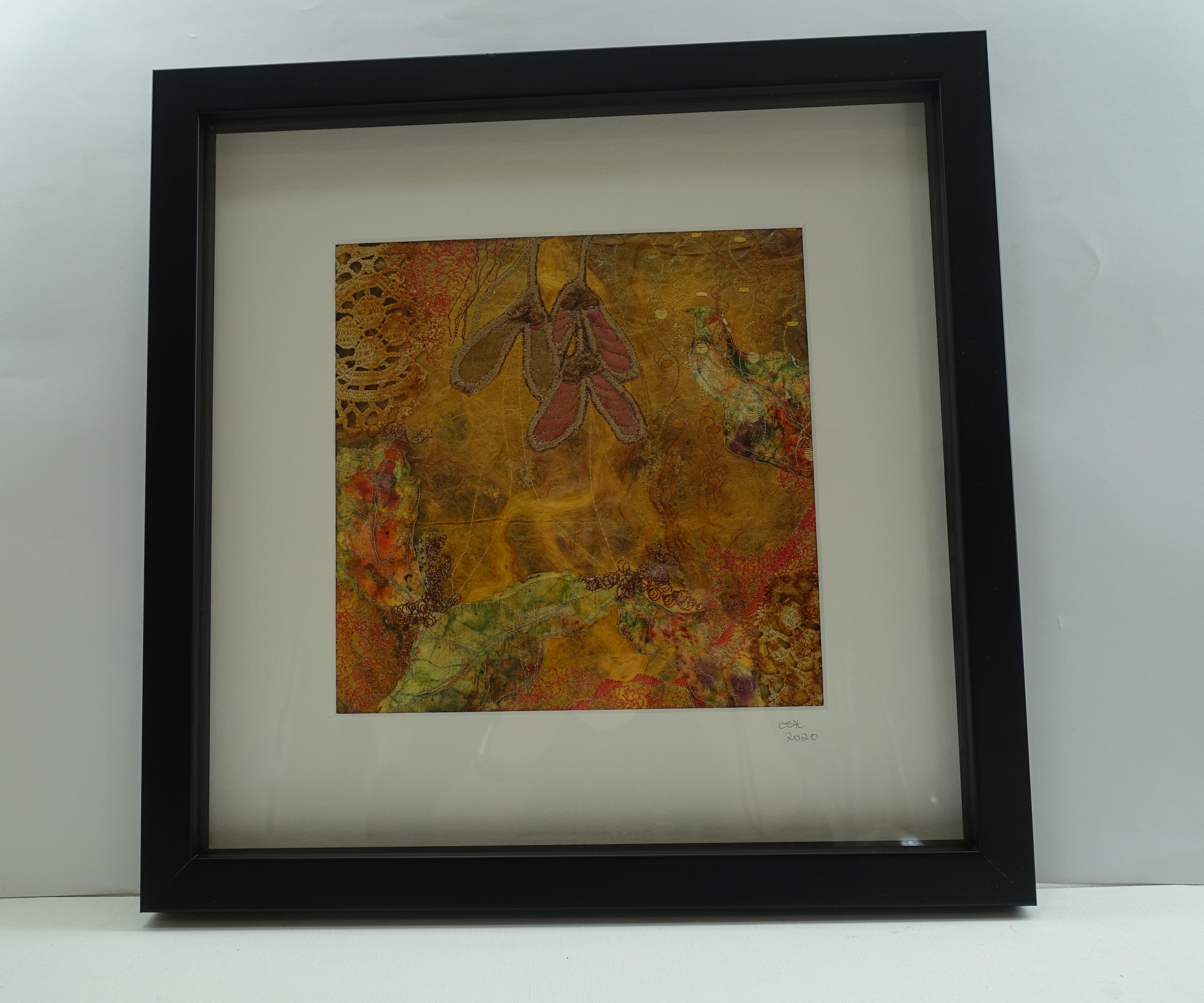 Title Falling Keys Price £75 Size 33cm square Black Frame