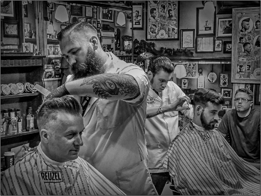 Highly Commended: Barbering before Social Distancing (Franco Colabella)