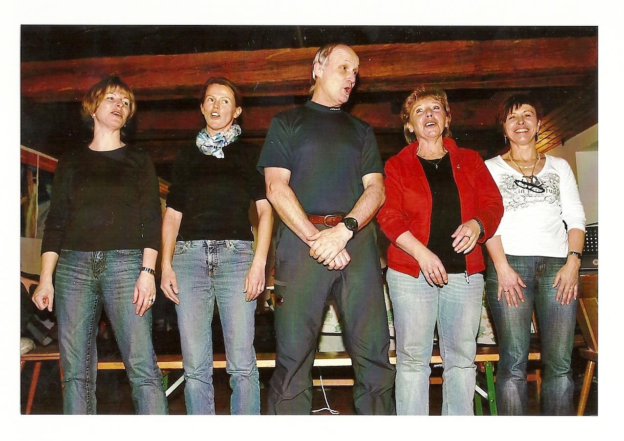 Gesangseinlage mit Kolleginnen 2007