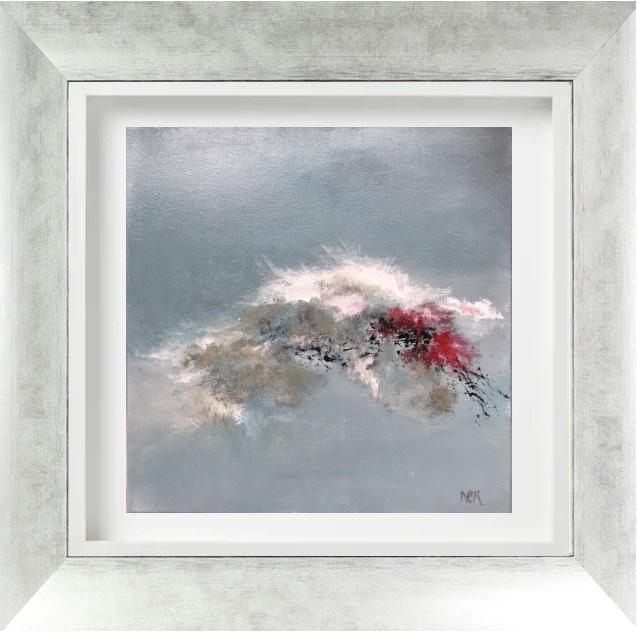 """""""Pivoines 2 """" - H40x40 cm - Framed 63x63 cm -  Acrylic on canvas"""