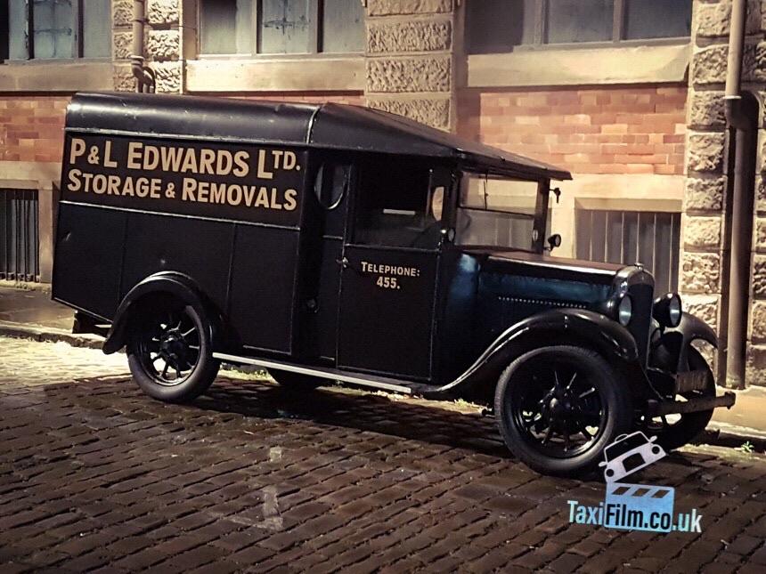 Black Austin 12/4 Van 1930's, Bolton ref C0008