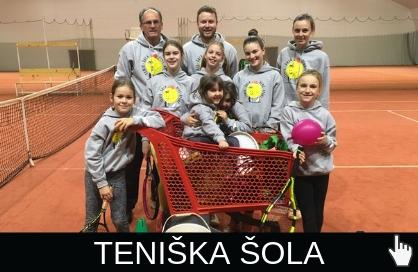 Otroci na teniškem kempu pri Benč Sportu